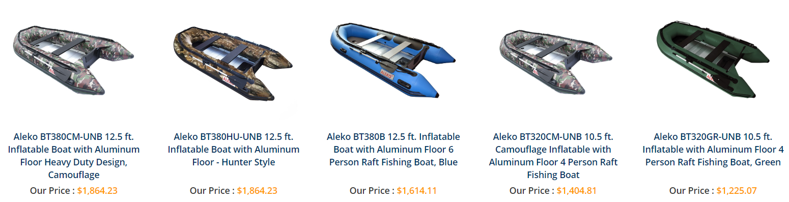 Get an inflatable boat