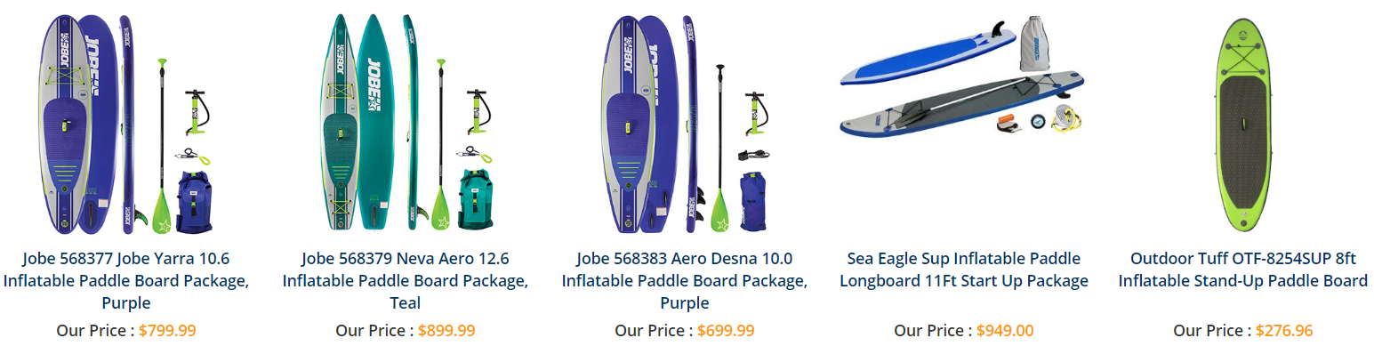 Get an inflatable paddle board