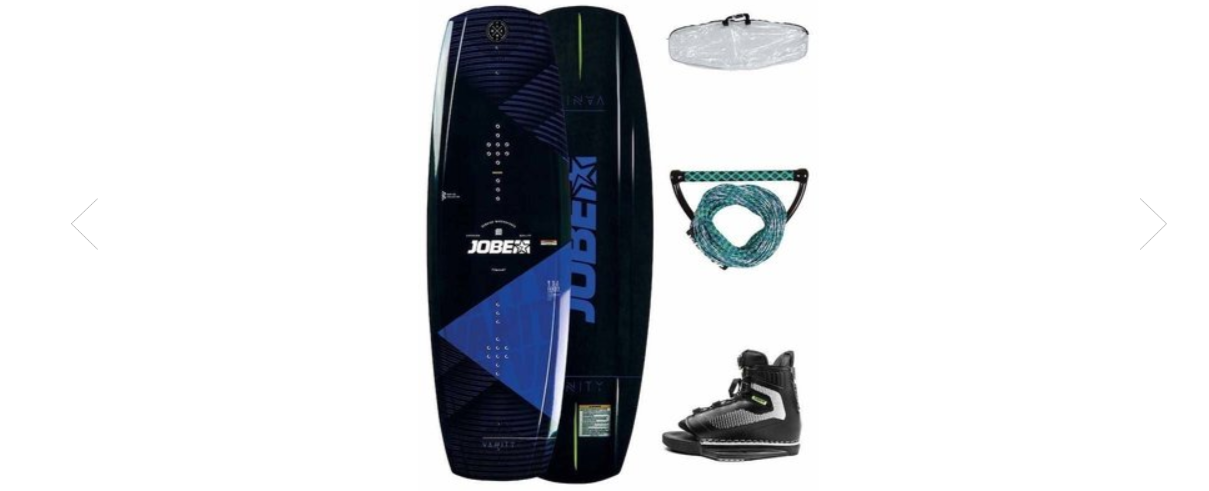Wakeboard complete pack: board, fins, bindings, boots, ...